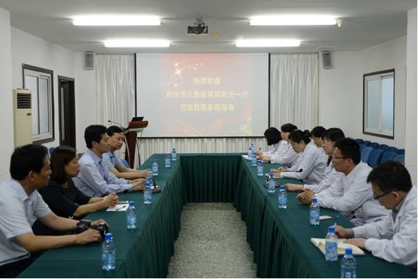 郑州市儿童学会周崇臣会长一行莅临我会参观交流